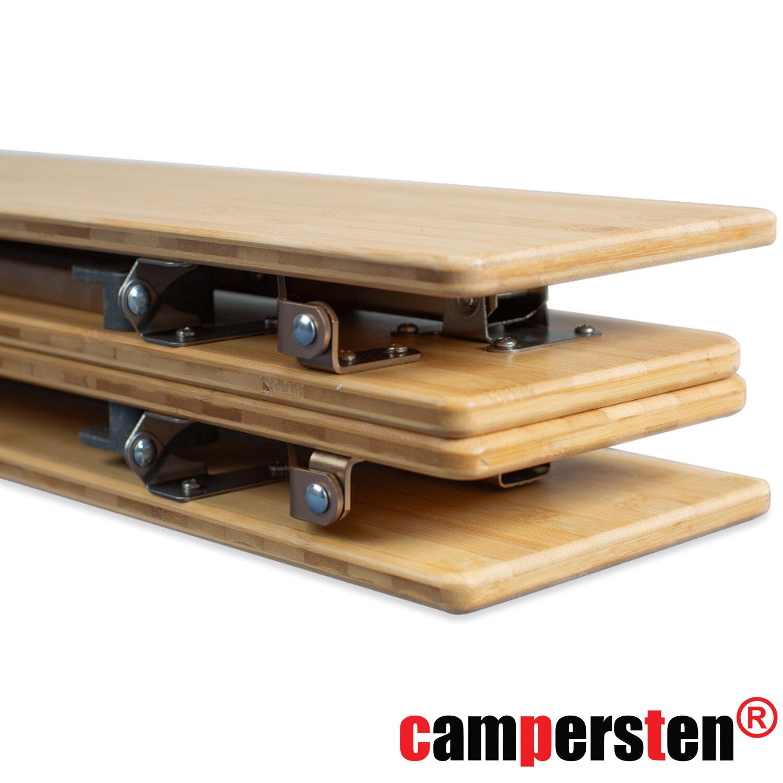 am campersten design campingtisch mit bambusplatte