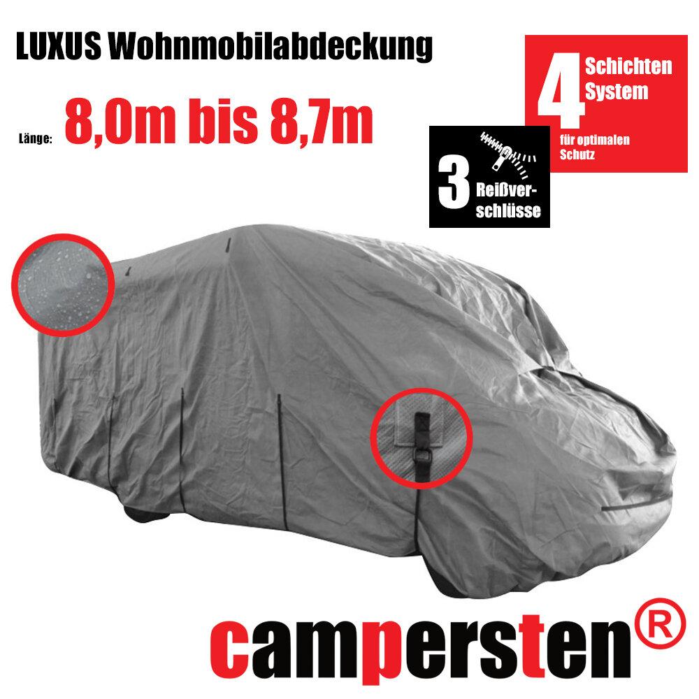 Die campersten® LUXUS Wohnmobil-Abdeckhaube 110,10-110,10m  Größe:10XL-High-Protection 10Schichten-Gewebe
