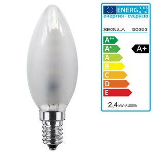 LED Kerze matt 2,4Watt, E14 Segula 50353 LED Lampe