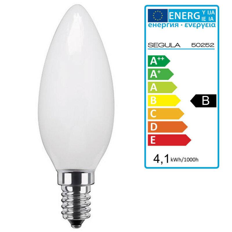 LED Kerze standard opal E14 4,1W, dimmbar, Segula 50252 LED Lampe ...