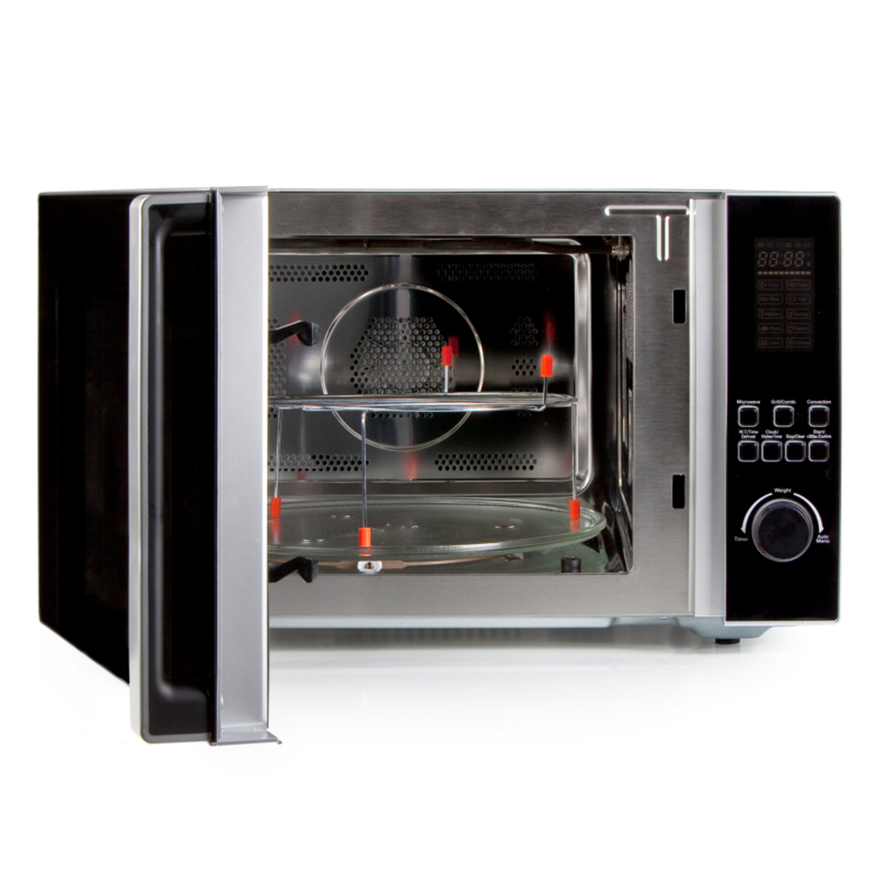 xl konvektions mikrowelle mit grill domo do2342cg 42liter volumen silber 189 88. Black Bedroom Furniture Sets. Home Design Ideas