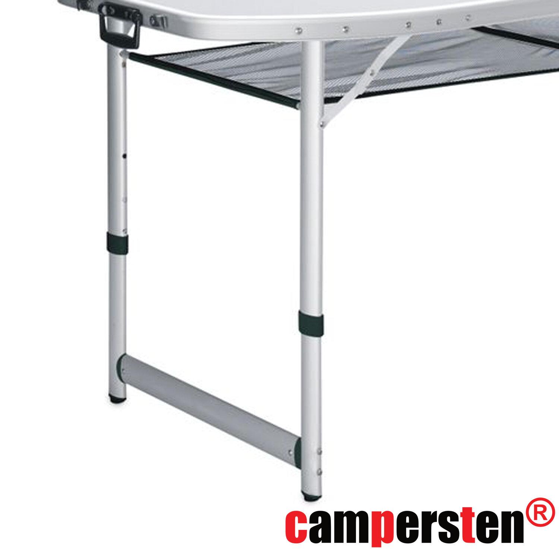 Witterungsbest/ändig Klappbar campersten Schicker Alu-Campingtisch mit Transporttasche Sehr geringes Eigengewicht