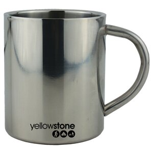 Edelstahl Campertasse Yellowstone CW031 300ml Tasse ideal...
