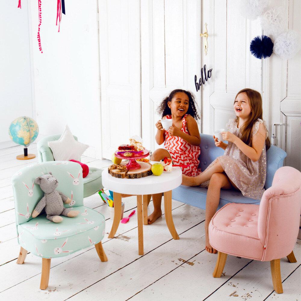 design kinder sessel mitwachsend blaue leinen wei e f e. Black Bedroom Furniture Sets. Home Design Ideas