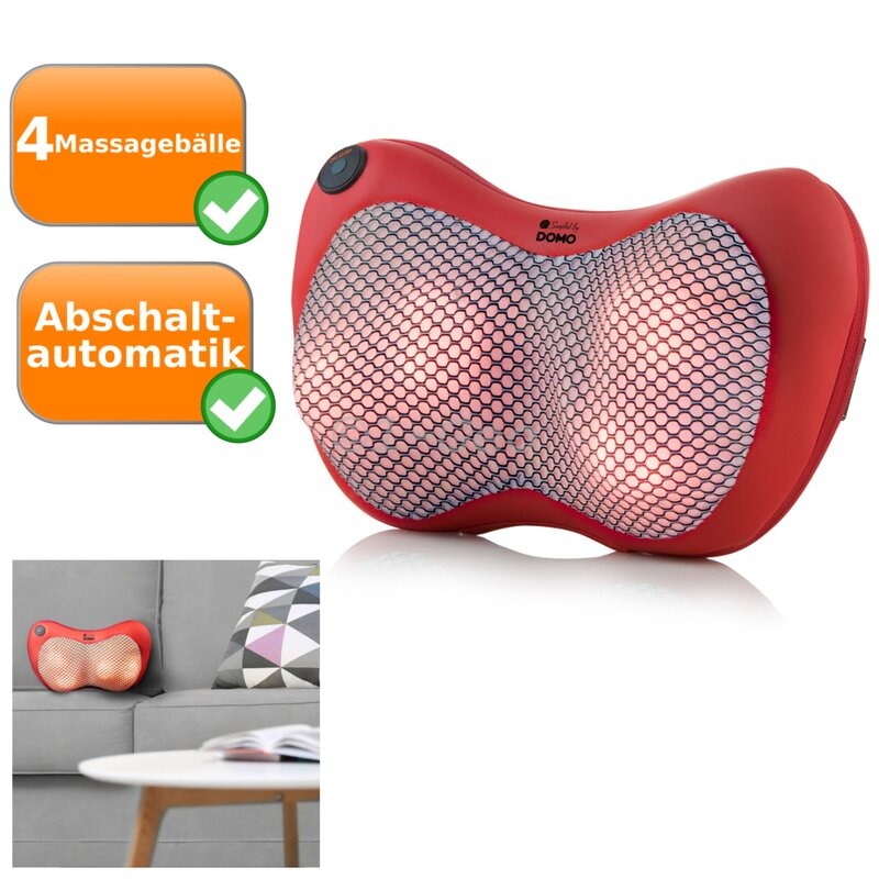 Massagekissen mit Heizfunktion DOMO DO9212MK Shiatsumassage