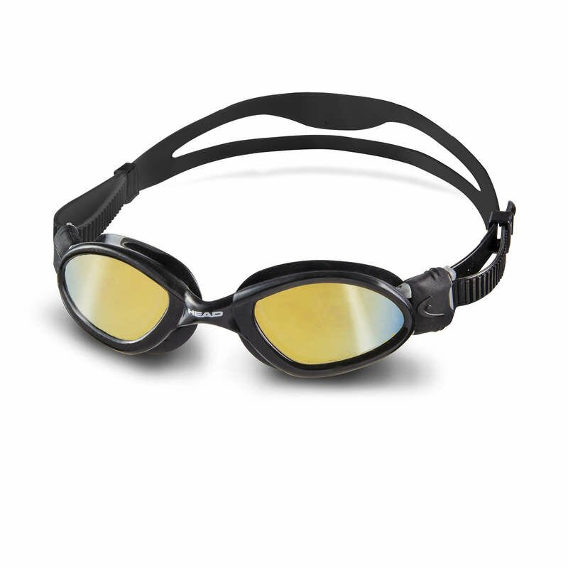 Schwimmbrille Superflex MID mirrored von HEAD verspiegelt (smoke mirrored) - schwarz