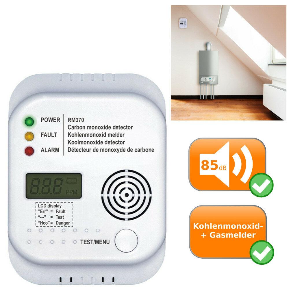 kohlenmonoxid melder rm370 co detektor smartwares gasmelder 47 20. Black Bedroom Furniture Sets. Home Design Ideas