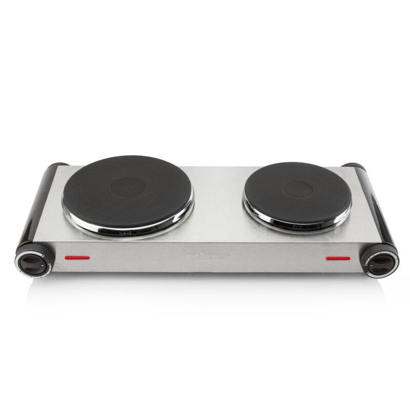 Edelstahl Doppel Kochplatte Elektrisches 2 Platten Kochfeld Tristar