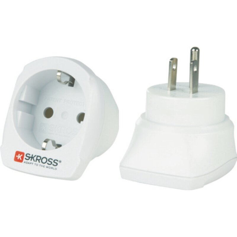 Reiseadapter Europa auf Amerika - Skross 1.500203 Single Travel Adapter