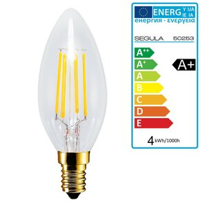 LED Kerze klar E14 4Watt dimmbar, Segula 50253 LED Lampe