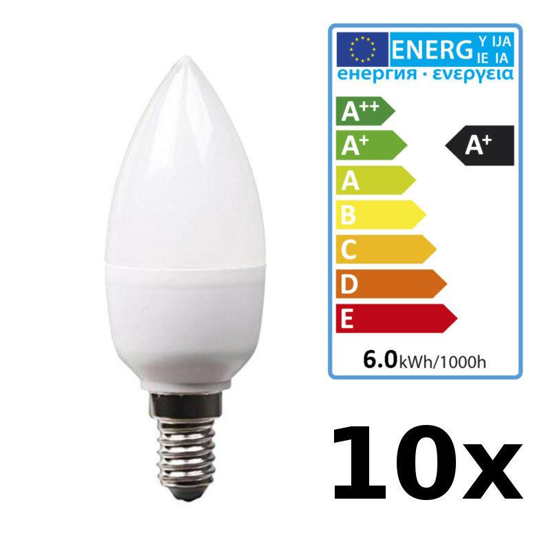 10 x Glühbirne 40 Watt Kerzenform Matt für E14 Fassung Leuchtmittel Kerze NEU