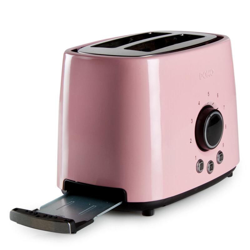 edelstahl retro toaster f r zwei toast scheiben domo. Black Bedroom Furniture Sets. Home Design Ideas