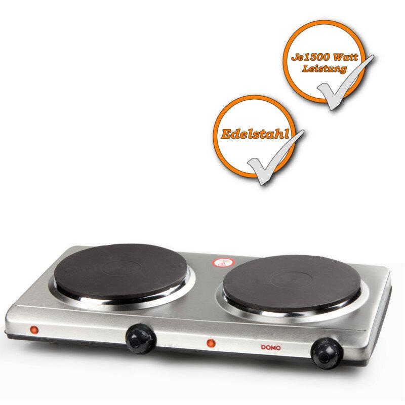 Doppelkochplatte 2 Brenner Kochplatte regulierbares Thermostat mobile Herdplatte