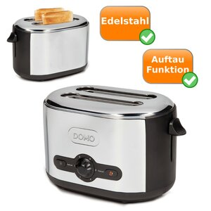 Edelstahl Toaster DOMO DO428T in Retro Optik