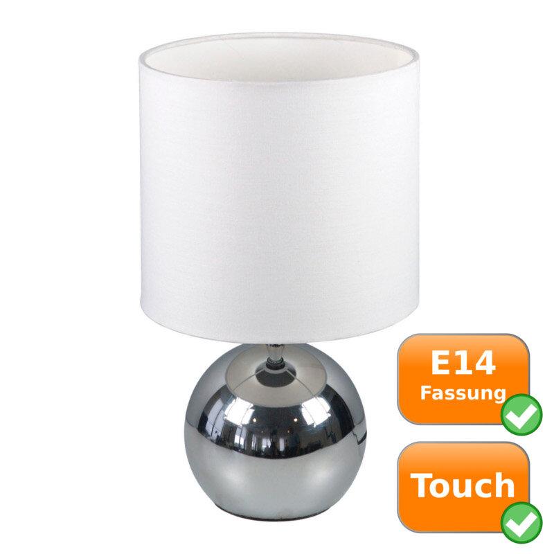 Edle Touch Lampe, mit weißem Textilschirm NOA Ranex 12.12.12