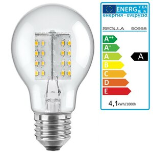 LED Glühlampe opal E27 4,1Watt, dimmbar, Segula 50668 LED...