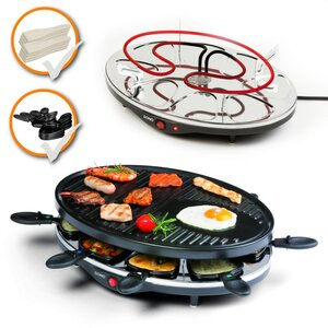 Raclette Grill DOMO DO9038G große Backplatte Raclette-Set