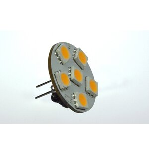 LED-Leuchtmittel, 6xSMD-LED 5050, Modul, 125°, GZ4, AC 12...