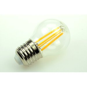 LED-Filament-Birne Globe warmweis E27 4W EEK A+