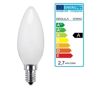 LED Kerze opal E14 2,7Watt, dimmbar, Segula 50652 LED Lampe