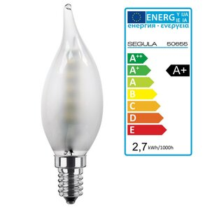 LED Kerze Windstoss matt E14 2,7Watt, dimmbar, Segula...