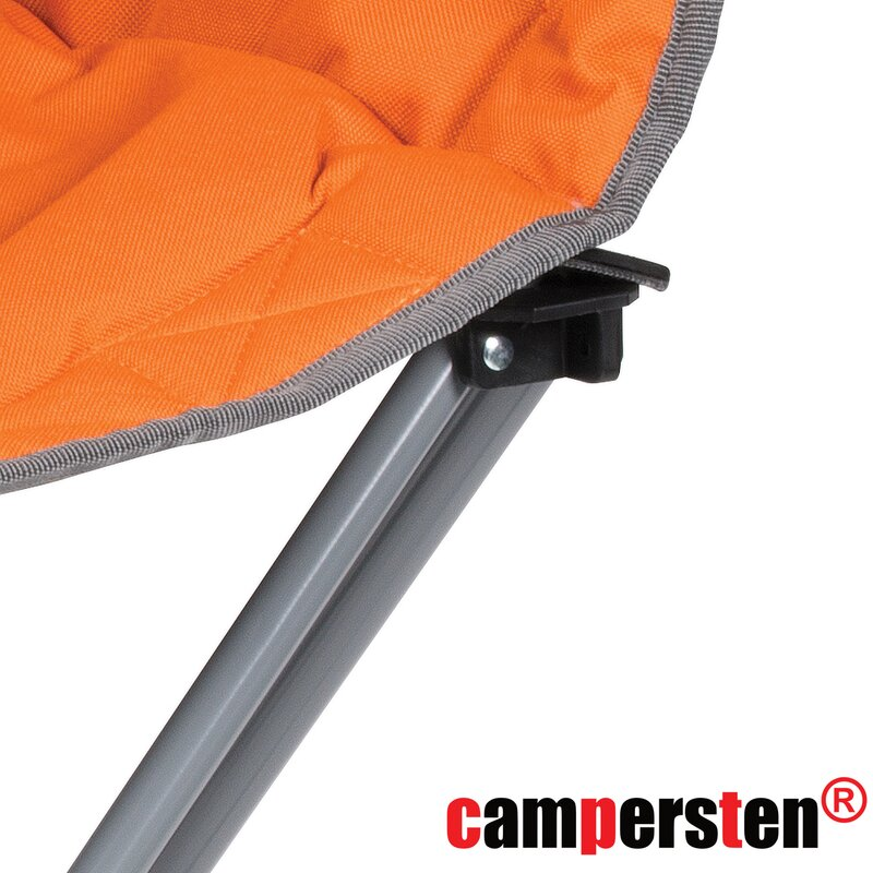Gepolsterter Campingstuhl / Lounge-Sessel EXTREMER Komfort orange