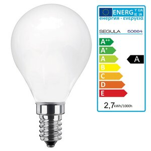 LED Glühlampe opal 2,7Watt E14, dimmbar, Segula 50664 LED...