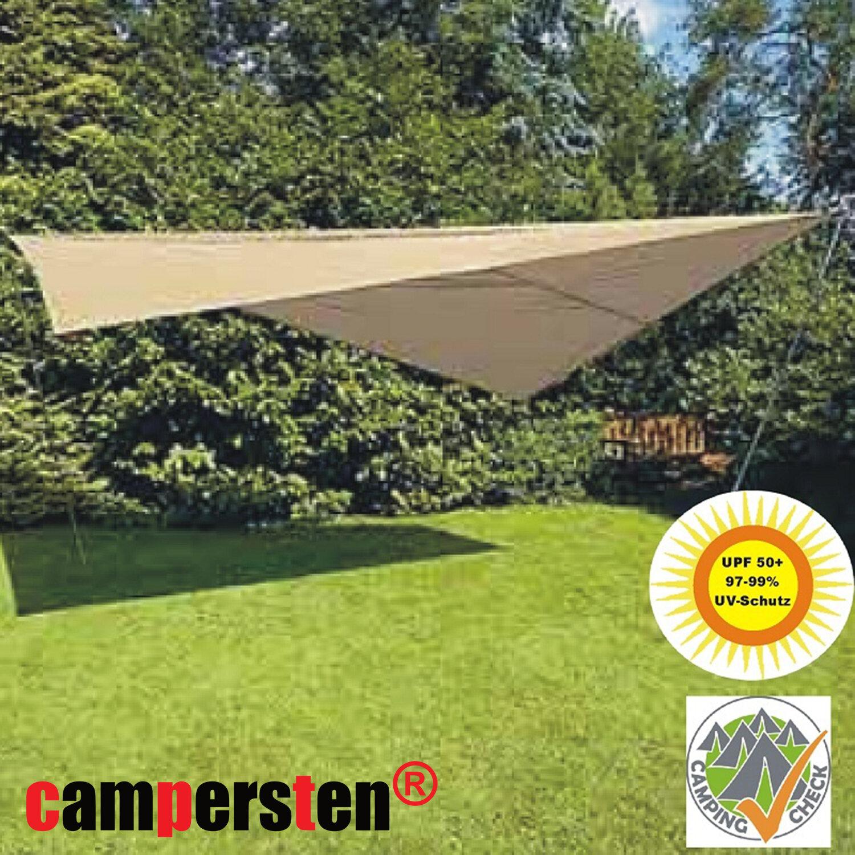 Sonnensegel 400x600cm Wasserdicht Rechteckig Garten Mit Gestell 7899