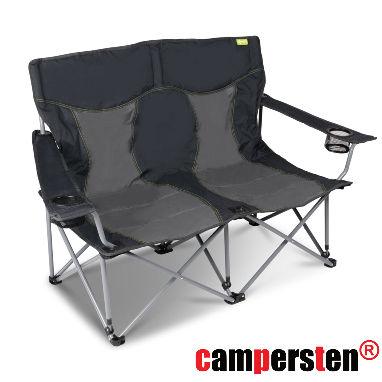 gepolsterter Lounge Sessel Garten klappbarer Campingstuhl Falt-Stuhl orange NEU