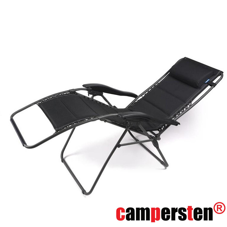 Campingstuhl Liegestuhl.Den Campersten 2in1 Komfort Campingstuhl Liegestuhl Bungee Seil Aufhängung Und Kopfstütze Faltbar Klappbar Leicht Und Hohe Tragkraft 150kg