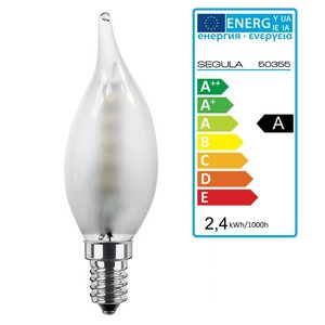 LED Kerze Windstoß 2,4Watt matt E14 Segula 50355