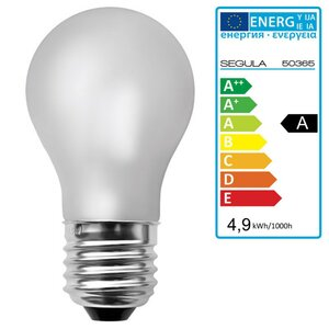 LED Glühlampe matt E27 4,9Watt dimmbar Segula 50365 LED...