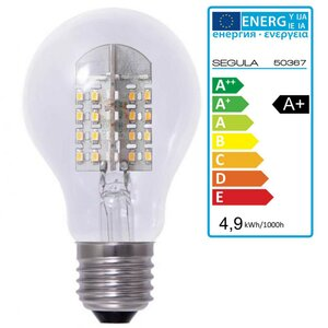 LED Glühlampe klar E27 4,9Watt dimmbar, Segula 50367 LED...