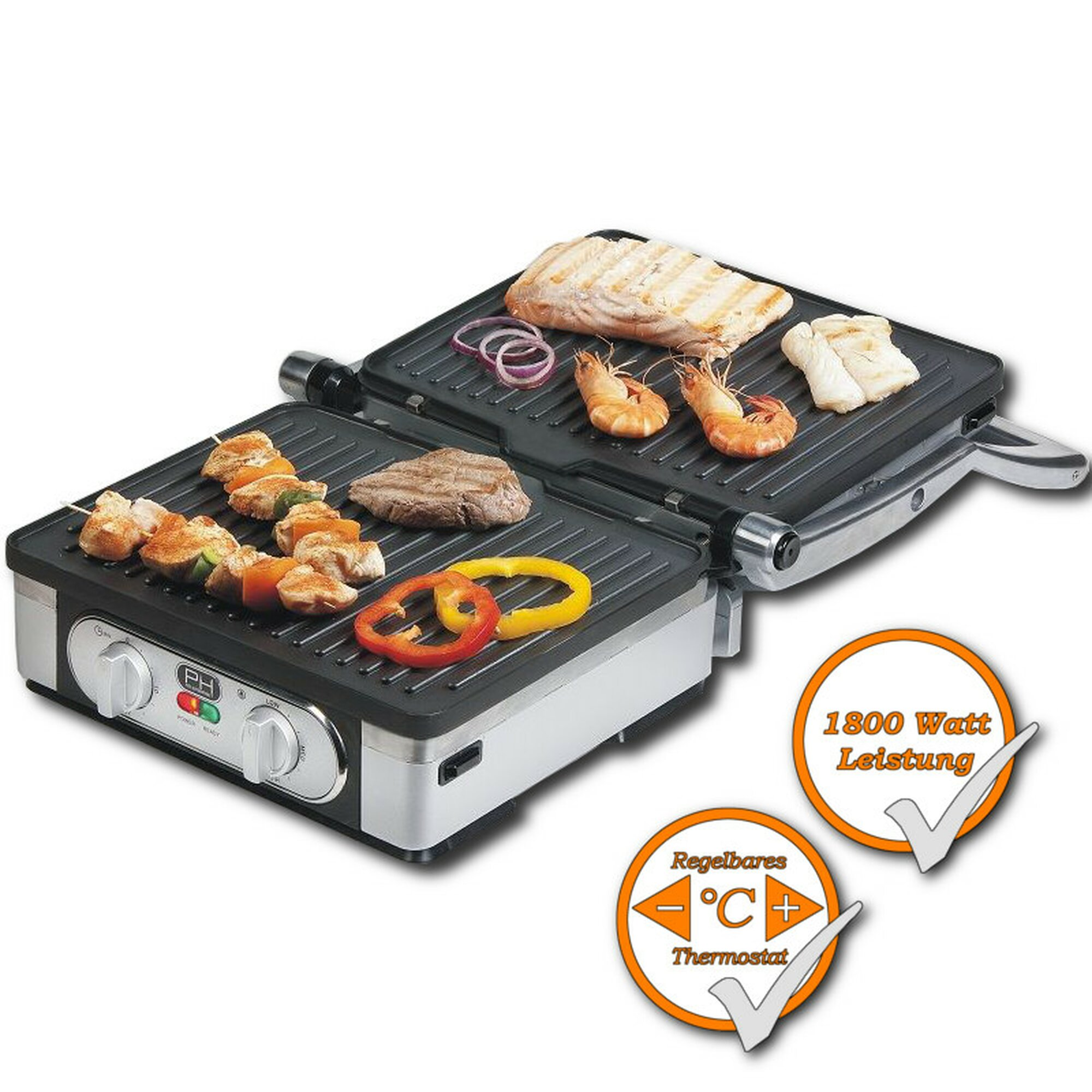 Kontaktgrill domo do9051g tischgrill 77 17 for Domo arreda facile cucine