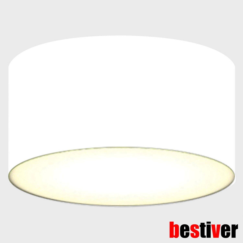DECKEN-LEUCHTE Ø20cm runde Küchen Esszimmer-Beleuchtung Textilschirm schwarz NEU